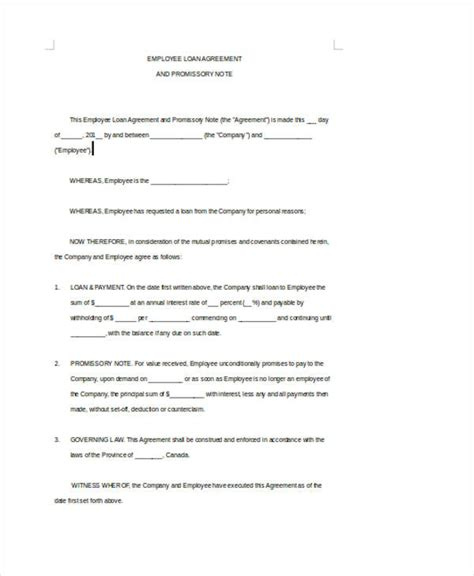 standard loan agreement template 28 images 10 loan