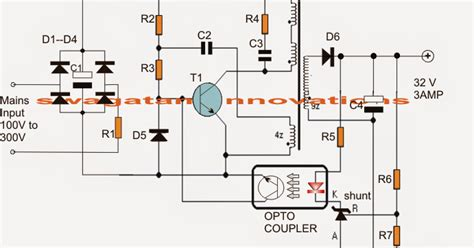 32v 3 led driver circuit electronic circuit projects