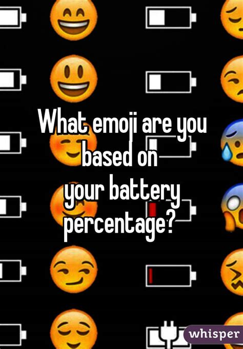 emoji wallpaper battery what emoji are you based on your battery percentage