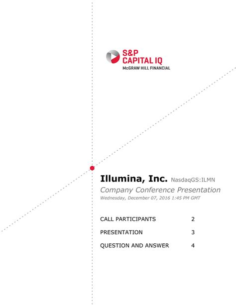 Capital Iq Questions And Answers For Mba Finance Pdf by Illumina Ilmn Presents At Citi Global Healthcare