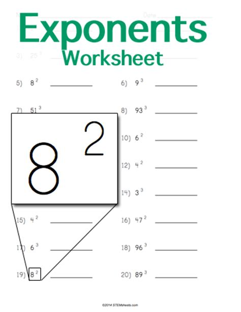 Exponents Worksheet by Imgs For Gt Exponents Worksheets With Answers