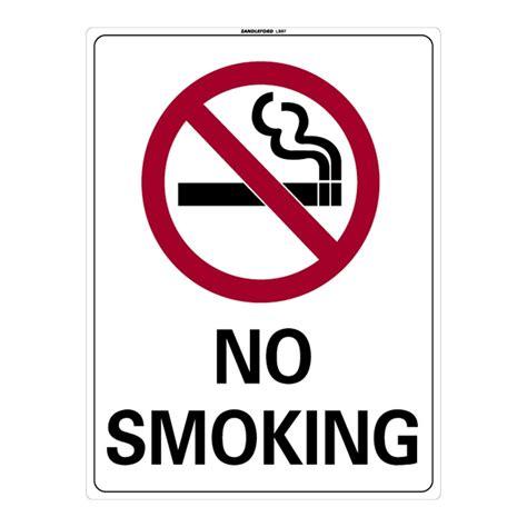 no smoking sign bunnings sandleford 450 x 600mm no smoking plastic sign i n