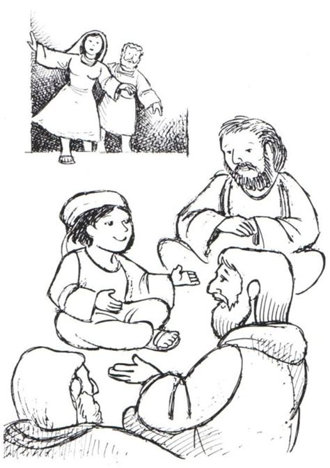 coloring page jesus teaching in the temple mary and joseph find jesus teaching in the temple bible