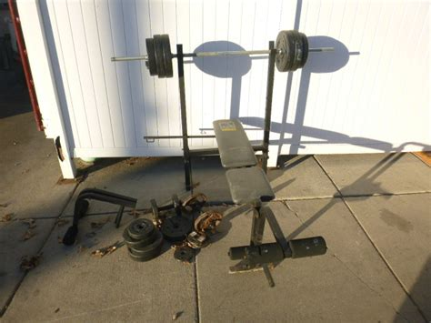 weider 135 weight bench and weights northstar kimball