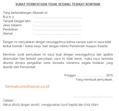 contoh surat pernyataan resmi yang benar