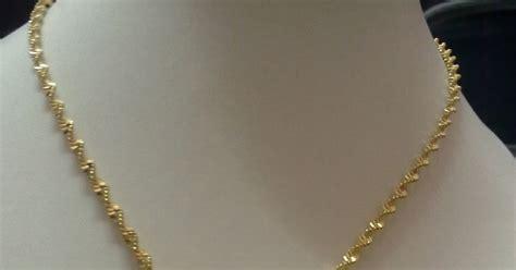 Set Rantai 9 koleksi aleesya set rantai dan loket emas korea