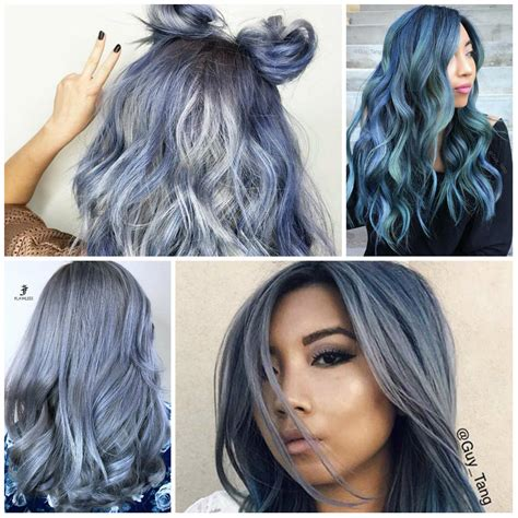 hair color of 2017 denim blue hair colors for 2017 best hair color trends