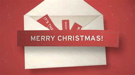 christmas envelope openers download free after effects