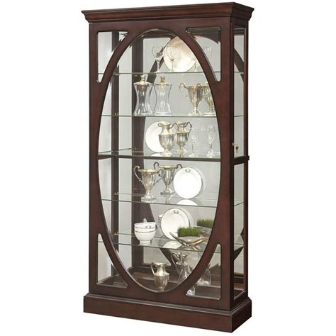 corner curio cabinet amazon amazon com pulaski p021569 sable oval framed mirrored