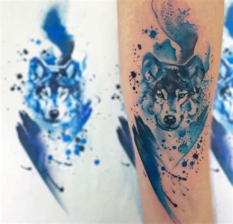 watercolor wolf tattoo designs 100 watercolor tattoos that perfectly replicate the medium