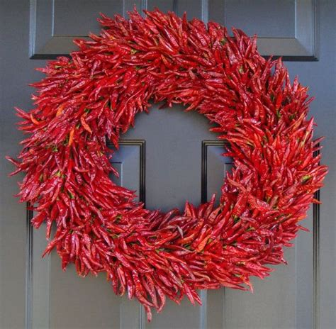 red hot dried chili pepper wreath vivaterra 90 best dried flower herb crafts images on pinterest