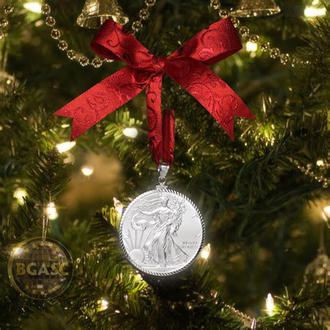 us mint christmas ornaments buy 2017 american silver eagle coin ornament with ribbon in gift box ornaments