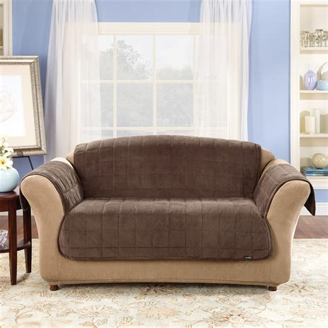couch stretch slipcovers sure fit sofa sure fit stretch pique one piece thesofa