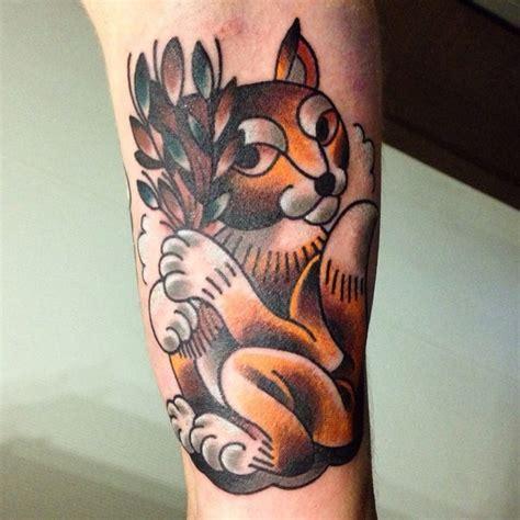 cartoon tattoo wrist cartoon ink colored squirrel tattoo on wrist