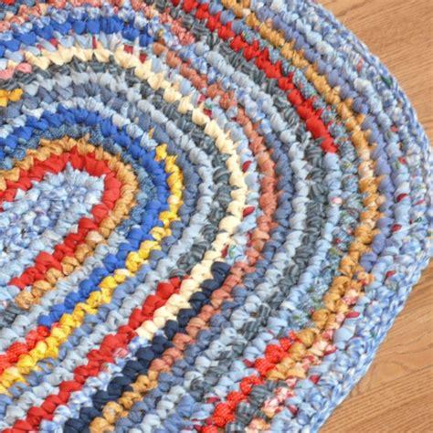 rag rug crochet crocheted oval rag rug knitting