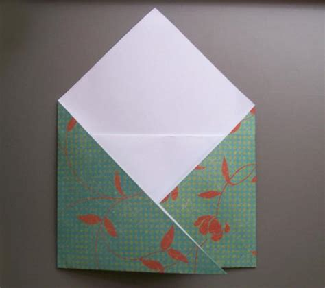 How To Fold Paper For An Envelope - fold origami envelope comot