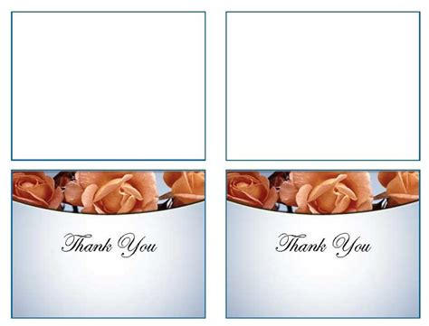 thank you card template word 2003 funeral thank you card templates memorial roses