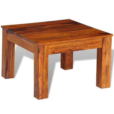 60 Coffee Table Wood Sheesham Solid Wood Coffee Table 60 X 60 X 40 Cm Lovdock