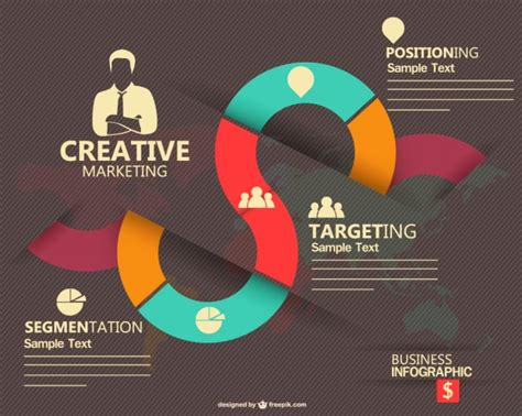 marketing design templates marketing infographic design vector free