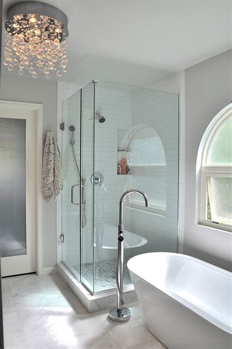 Waterfall Shower Enclosures by Waterfall Chandelier By Et2 Frameless Shower And