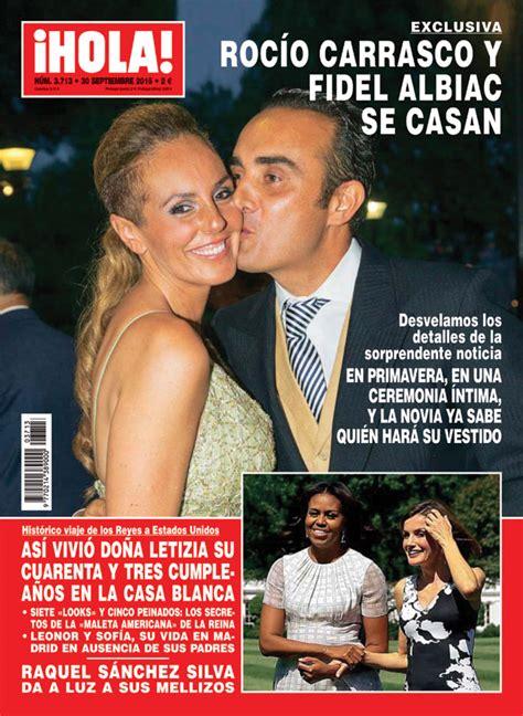 imagenes de hoy revista hola exclusiva en 161 hola roc 237 o carrasco y fidel albiac se casan
