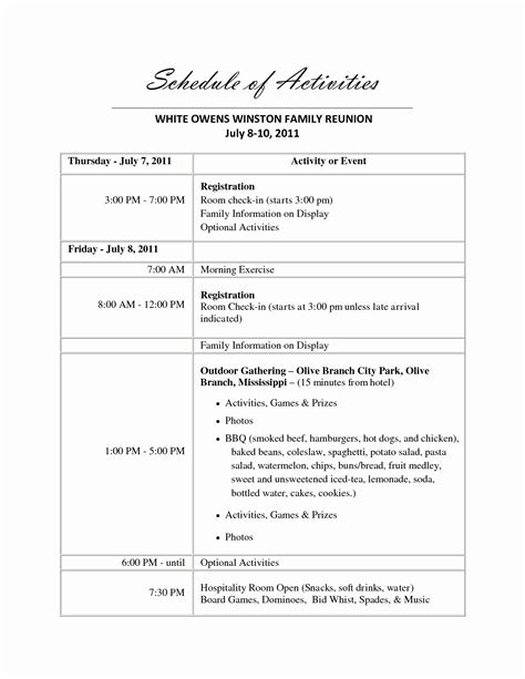 class reunion program sample resume  family