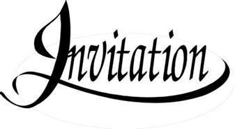 invitation free stock photo illustration of invitation text 9589