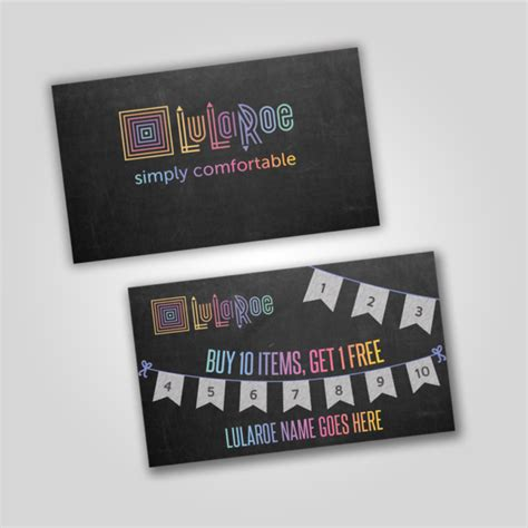buy 10 get 1 free punch card templates free lularoe images for social media itw visions