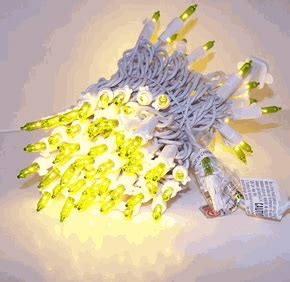 chartreuse christmas lights 100 lights white wire w