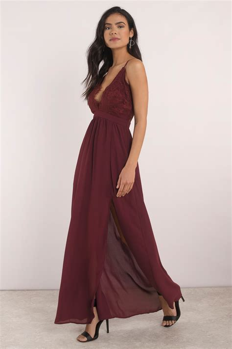 Wine Maxy wine maxi dress lace dress wine dress