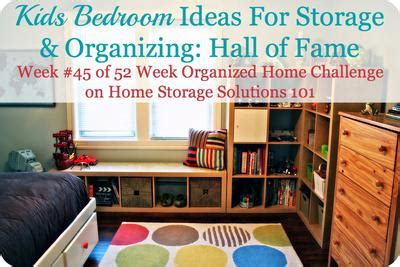 home storage solutions 101 organized home kids bedroom ideas for storage organization