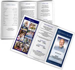 trifold funeral program sample funeral program example
