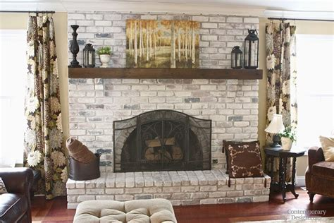 Gray Brick Fireplace by White And Grey Brick Fireplaces