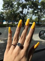 Yellow Acrylic Nails Design