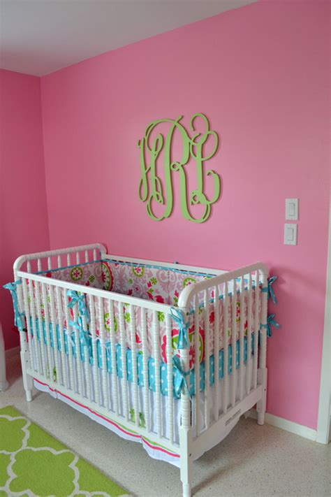 green and pink nursery pink green and aqua nursery project nursery