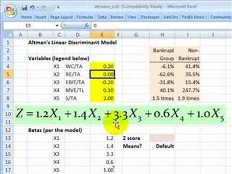 Credit Score Formula Pdf Frm Altman S Z Score For Credit Risk