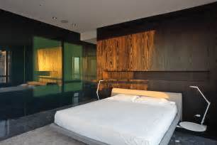 modern bedroom back panelling built in bed with