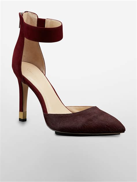 calvin klein high heels calvin klein white label tanda haircalf high heel in