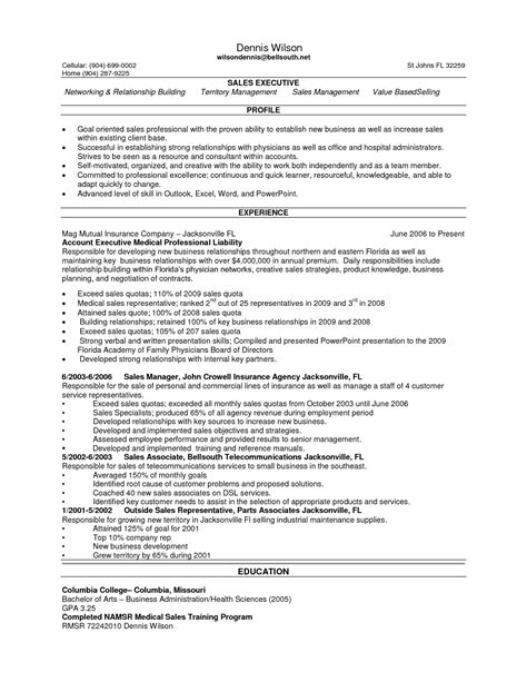 Sle Salesperson Resume by Sales Resume Sle Inside Sales Resume Sle 28 Images Resume For Sales Resume For Sales Sales