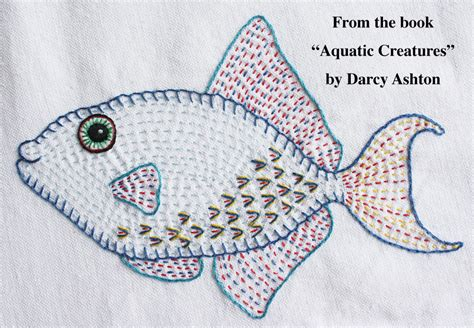 embroidery fish embroidered fish ashton publications
