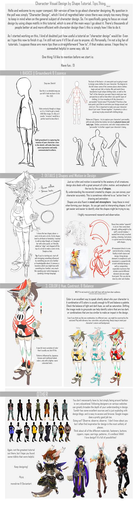 tutorial design character basic character design by shape by monokroe on deviantart