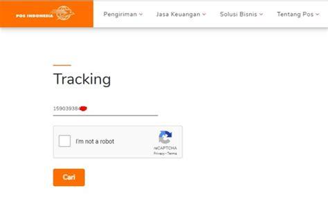 cek resi pos indonesia tercepat  akurat