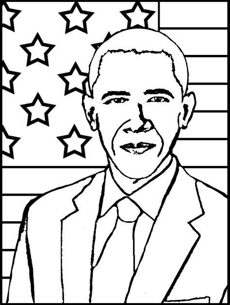 barack obama coloring page purple kitty