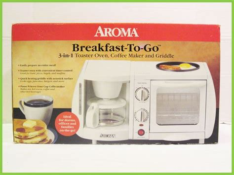 Space Saving Toaster Aroma 3 Coffee Maker Toaster Oven Griddle Space Saver