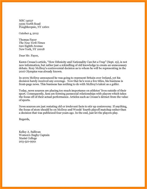 Formal Letter To Editor Formal Letter Template Letter To The Editor Topics Letters Free Sle Letters