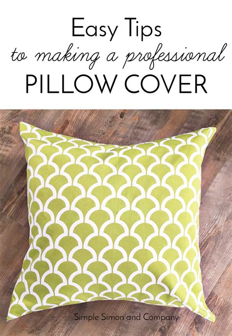 Easy To Make Pillows by Easy Tips To Make A Professional Pillow Cover Simple