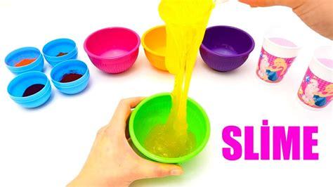 tutorial come fare uno slime come fare lo slime colorato fatto in casa con pochi
