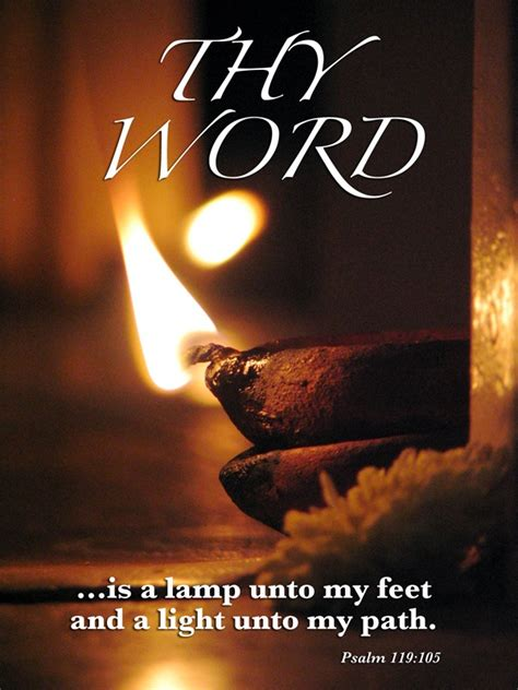 l unto my feet thy word is a l unto my feet and a light unto my path