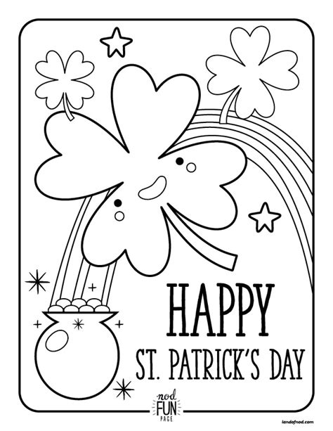 nod free printable coloring pages st patrick s day