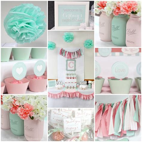 Mint Green Bridal Shower Ideas by Pink And Mint Bridal Shower S Bridal Shower